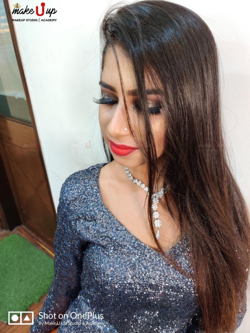 simple makeup and hairstyle for party