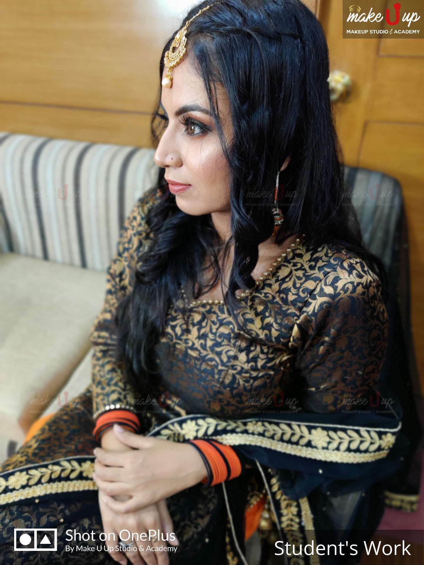 natural makeup for black dress