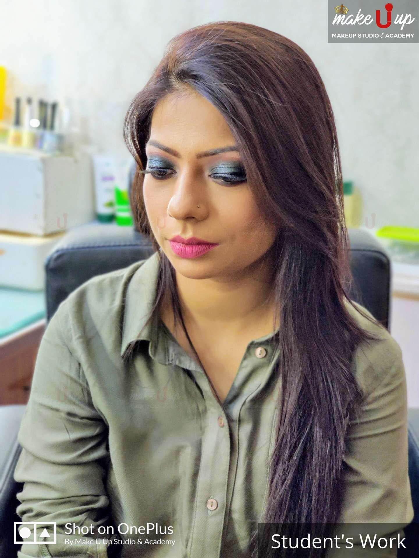 student makeup practice